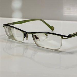 Etnia Barcelona Eyeglass Frame Black/Apple Green